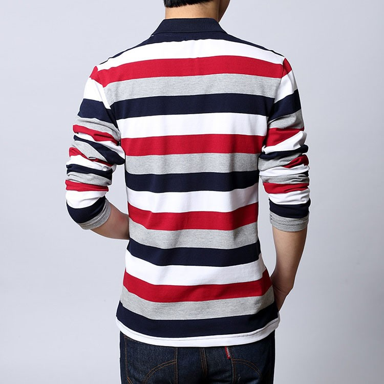 Polo shirt men Letter Embroidered Strip Polo Shirt 2016 Summer brand Turn-down Collar Casual Cotton Polo Shirt  Plus Size M-5XL (9)