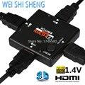 Горячий Новый 1 Шт. Оптовая Mini HDMI Порт 3 Порт HDMI Splitter HDMI Switcher Переключатель для HDTV 1080 P Vedio