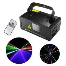 Новый ИК-Пульт Дистанционного DMX 512 Мини 400 МВт RGB Полный Цвет лазерная Освещение Сцены Сканер DJ Dance Party Показать Проекторе Горит DM-RGB400