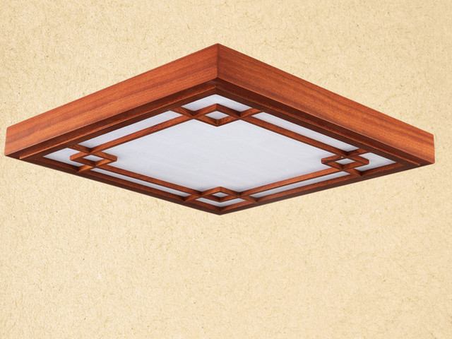 Phenomenal Us 106 0 Asian Chinese Japanese Style Ceiling Lamp Led Mahogany Finish Wood Lights Ceiling Lamps For Home Bedroom Modern Decorations In Ceiling Home Interior And Landscaping Ponolsignezvosmurscom