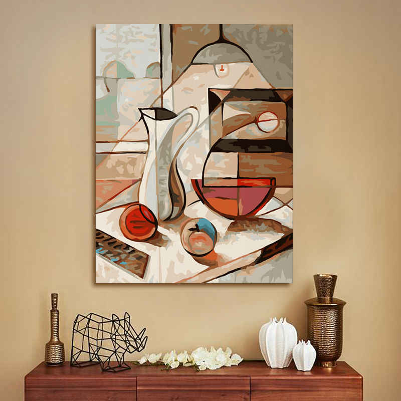 coloring by numbers  Dining table  abstract oil painting  diy oil painting  digital paint by numbers  modular painting