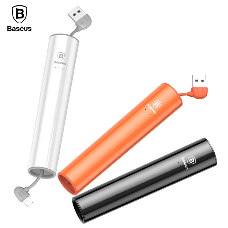 Baseus 2000mAh Power Bank For iPhone X 8 7 6 Micro USB Output Portable Powerbank External Battery Charger For Xiaomi Poverbank