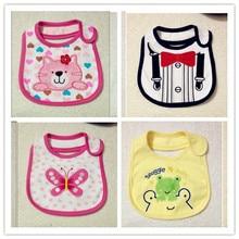 Envío gratis 1 pc/lot 100% algodón de dibujos animados impermeable bebés y las muchachas baberos niños corbata delantal infantil Color al azar