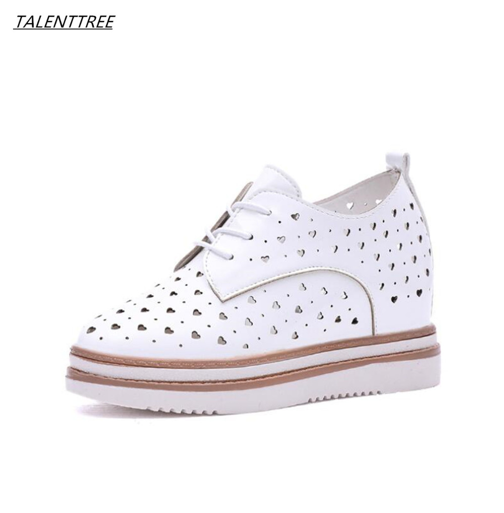 2018 Summer new thick bottom shoes women Hollow out breathable casual loafers hundred lap low help lace-up flat Platform shoes women s shoes 2017 summer new fashion footwear women s air network flat shoes breathable comfortable casual shoes jdt103