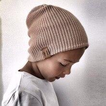 Crianças Da Menina do Menino Chapéu Do Inverno Do Bebê Beanie Cap Crochet  Elasticidade Macia e Quente Malha Chapéus Crianças Ouv. 9a114c7e677