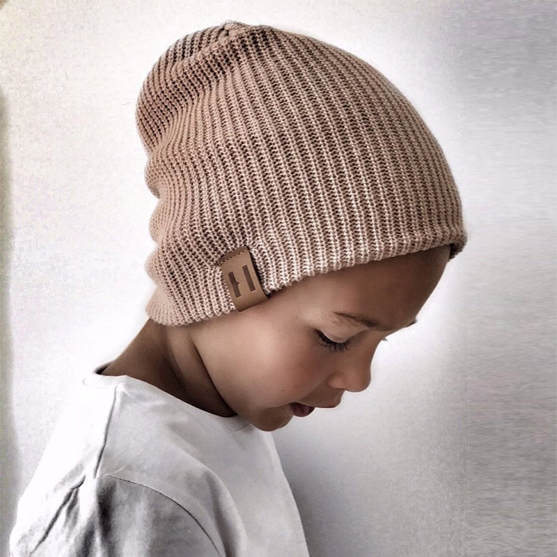 Kids Girl Boy Winter Hat Baby Soft Warm   Beanie   Cap Crochet Elasticity Knit Hats Children Casual Ear Warmer Cap