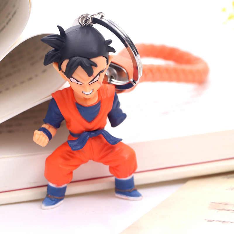 Anime Dragon Ball Goku figuras de acción Super Saiyan Zamasu negro dios de la creación vegetal Mai Dragon Ball Z figura llavero juguetes