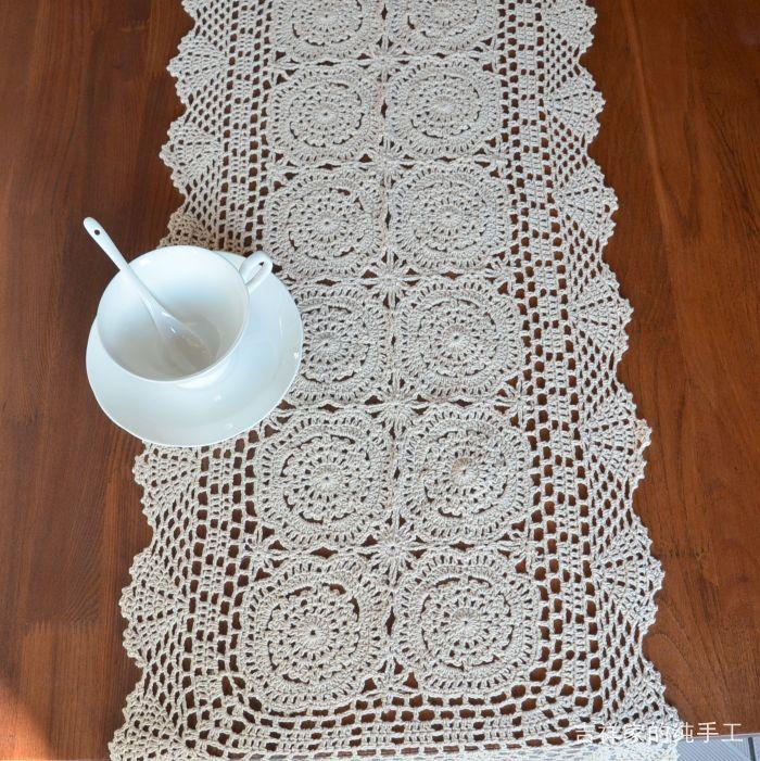 2014 Gratis Verzending Haak Katoen Tafelloper Met Bloemen Handdoek