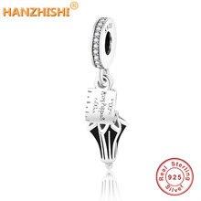 Поппинс из подлинного серебра 925 пробы, зонтик, браслет с подвеской, браслет Pandora, подвеска «сделай сам», ювелирные изделия