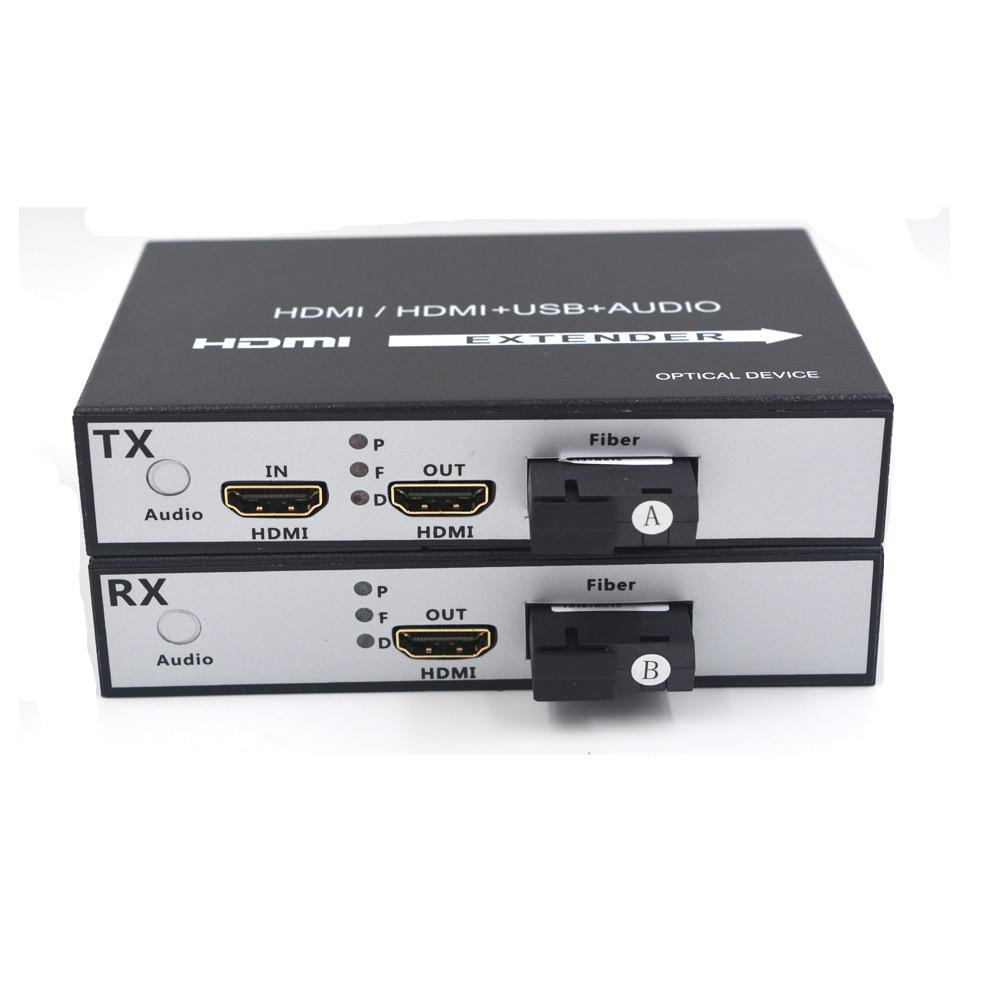 HDMI Extenders Video Audio over Fiber Optic media Converters Transmitter and Recevier Singlemode single fiber SC