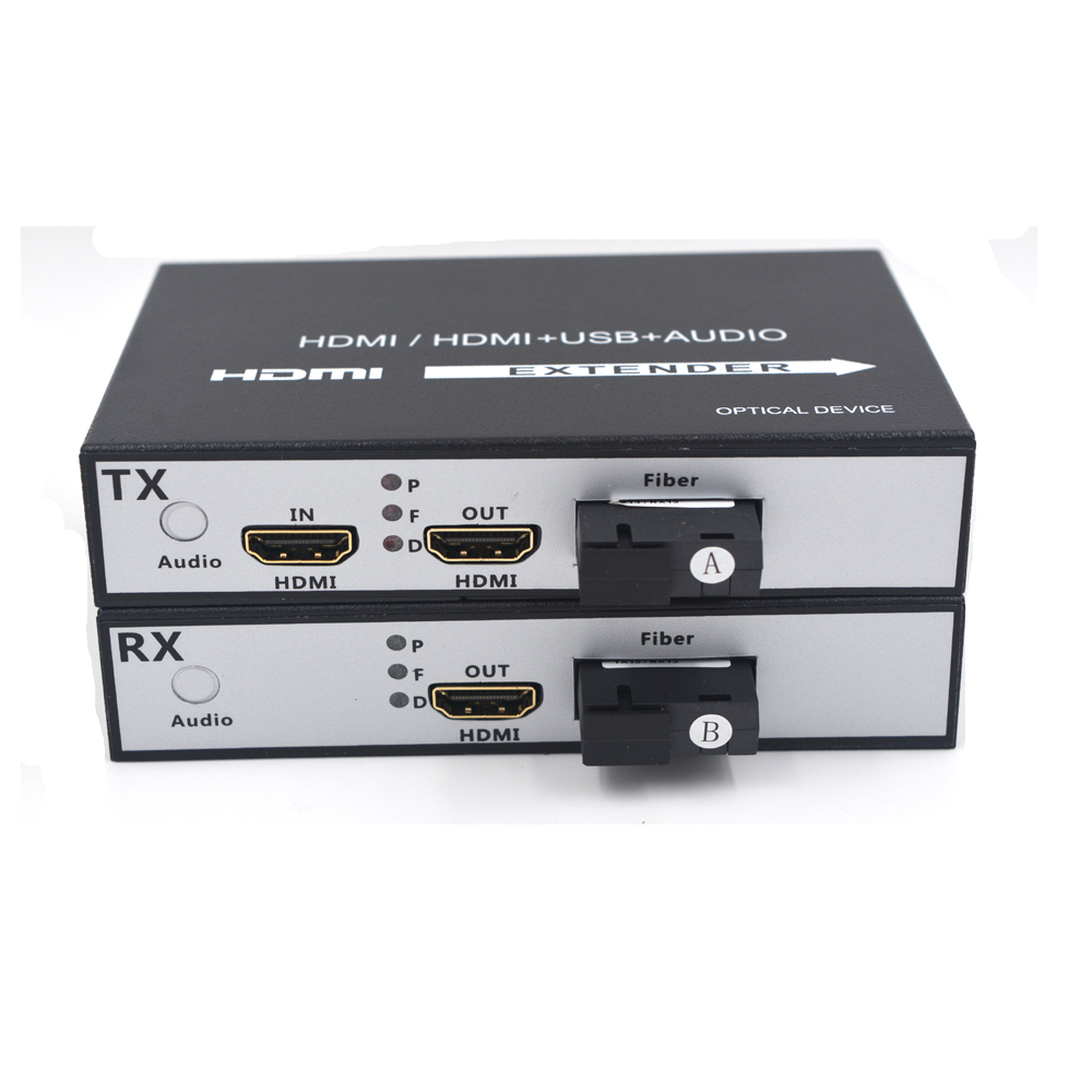 High Quality HDMI Over Fiber Optic media converters Transmitter and Recevier 1080P high defination Super stability