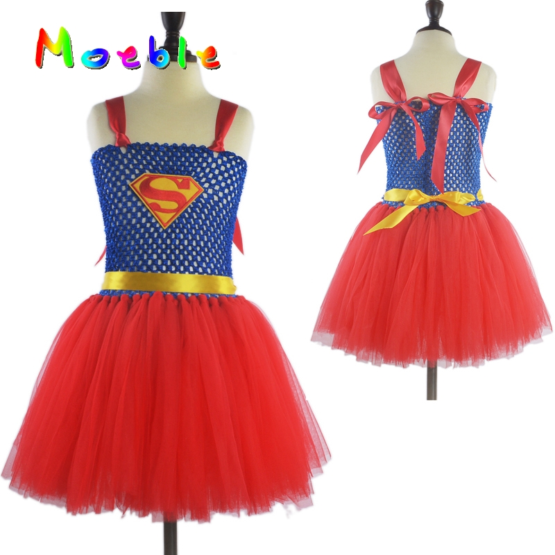 Online Shop Superman Girls Tutu Dress Girls Princess Party Dress