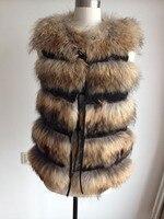 Бесплатная доставка 2019 Новое поступление роскошный реальный, натуральный, подлинный жилет из лисьего меха DFP438 для женщин модный бренд мехо