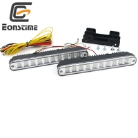 High Quality 2pcs 12V 30 LED Car Daytime Running Light DRL Daylight Lamp With Turn Lights