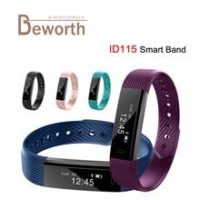 ID115 Bluetooth 4.0 Android Смарт Браслет Шагомер Фитнес трекер шаг счетчика SmartBand сна Мониторы Спорт браслет