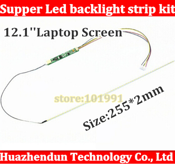 50pcs 255mm Adjustable brightness led backlight strip kit,Update 12.1inch laptop LCD ccfl panel to LED backlight