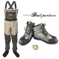 Fly рыбацкие сапоги комбинезоны рабочая одежда Водонепроницаемый костюм обувь для преодоления воды обувь под брюки Войлок Подошва охотничь