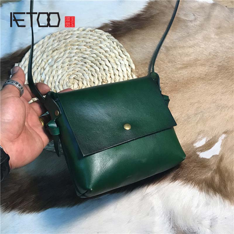 AETOO Tree cream retro bag wash water vegetable tan skin fashion lady handbag все цены