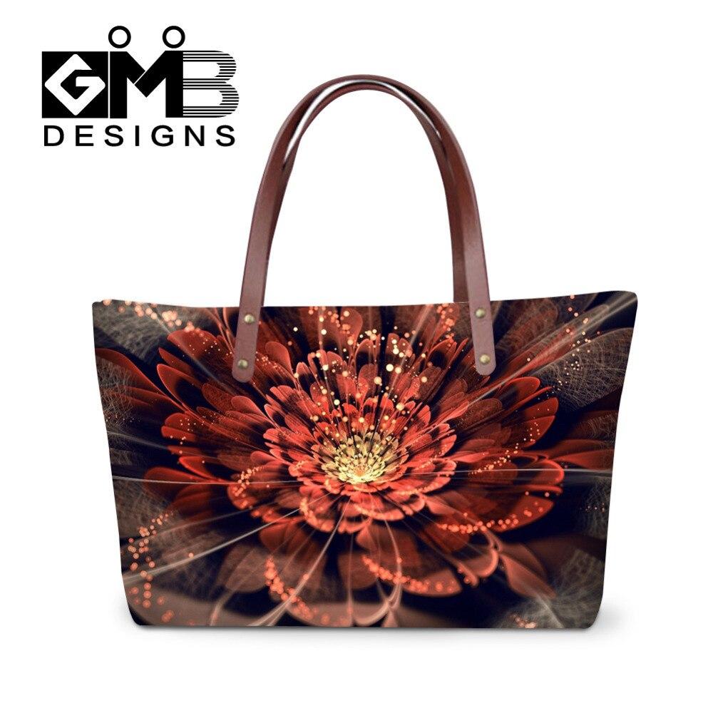 Fashion Design Handbags Shinny Flower 3D Print Large Capacity Women  Messenger Bags Double Shoulder Tote Travel Bags Bolsos Mujer e974302141