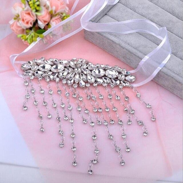 Фото женская цепочка на руку с кристаллами ручная работа свадебный цена