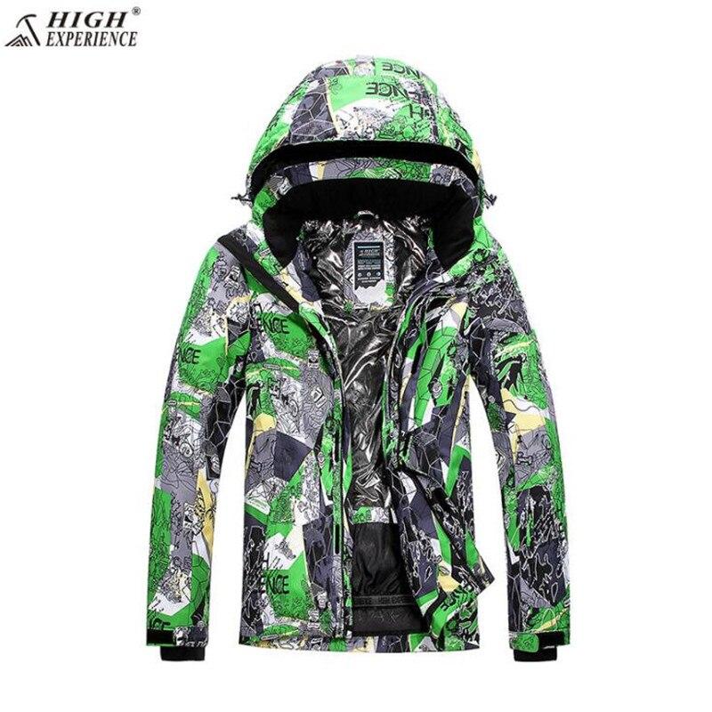 Livraison gratuite haute expérience. marque hommes veste de Ski d'hiver S-XXL taille coupe-vent vestes pour hommes neige hiver veste d'extérieur