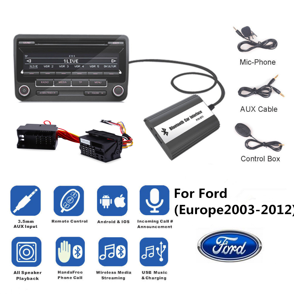 Doxingye wireless bluetooth car mp3 cd changer adapter aux usb music handsfree kit usb charge