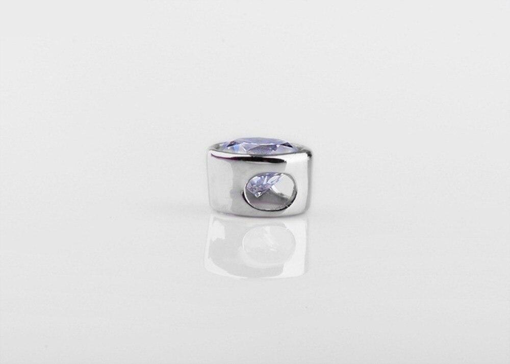0.5 قيراط بريليانت جولة قص الماس المشاركة قلادة سوليتير قلادة حقيقية فضة سلسلة 16 بوصة-في المعلقات من الإكسسوارات والجواهر على  مجموعة 3
