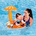 1 pcs Segurança Do Bebê Infantil de Natação Anel Swim Pool Float Assento Barco Inflável Toldo Ajustável