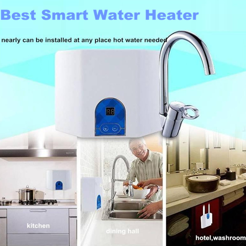 Tap water heater 2pcs instant electric tankless bathroom for 4 bathroom tankless water heater