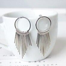 New Dangle Fashion Vintage Earrings For Women Jewelry Bright Tassel Earrings Flower Ancient Long Drop Earrings Dangle Brincos