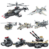 Fun Children S Toy Blocks Compatible With Legoes Tanks Fighter Planes Transport Aircraft Models Child Education