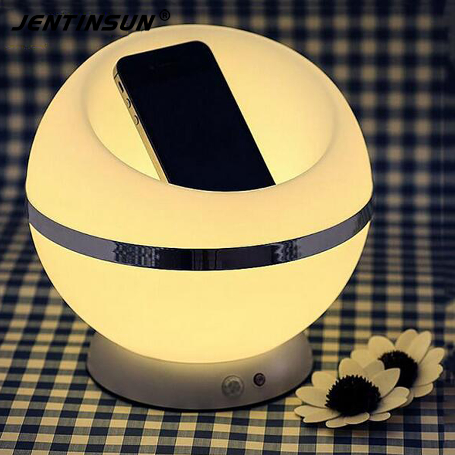 2016 Modern Light And PIR Motion Sensor LED Night Light Table Desk Lamp Ball Shape Atmosphere Lights Bedside Lamps