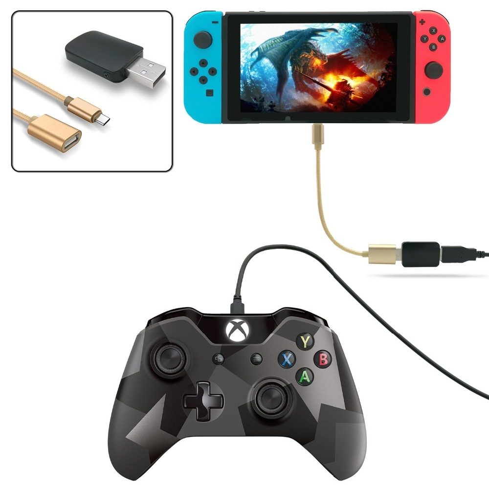 Controller Converter Adapter for Nintend Switch, Make PS3/PS4/XBOX 360/XBOX ONE Controllers Compatible with Your Nintendo Switch