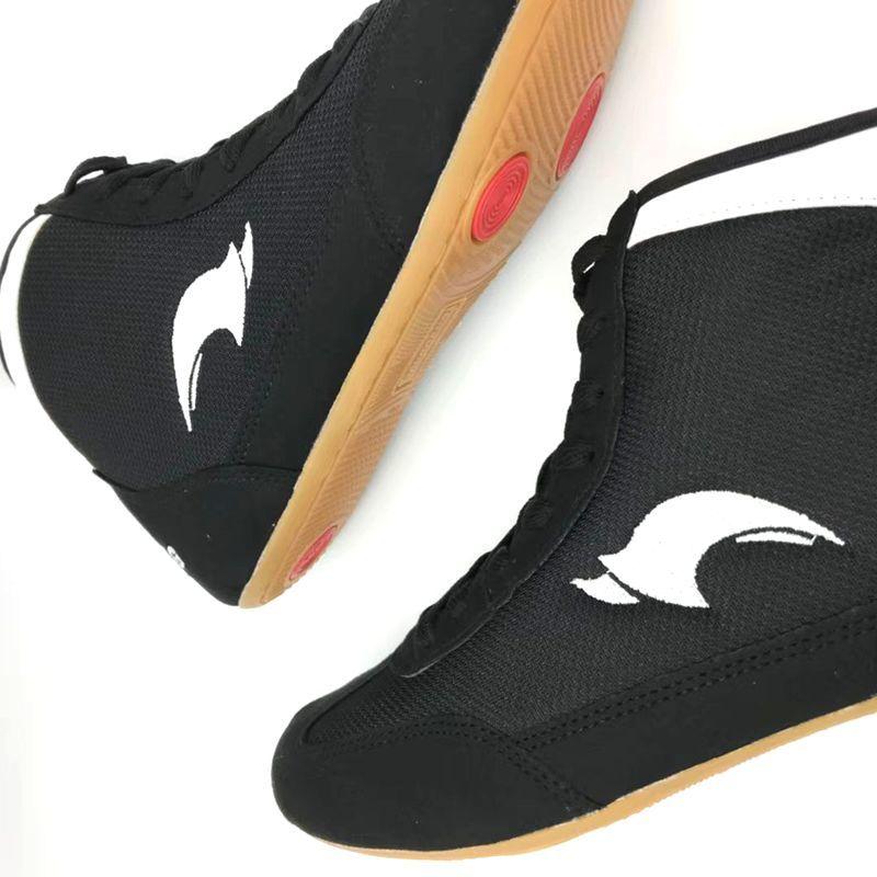Sport & Unterhaltung Professionelle Anti-slip Wrestling Schuhe Gummi Laufsohle Mesh Atmungsaktive Turnschuhe Beständig Boxing Training Kampf Stiefel A9062