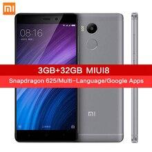 Original Xiaomi Redmi 4 Pro 3GB RAM 32GB ROM MIUI8 Snapdragon 625 5.0 Inch 4100mAh 13.0MP xiomi mi Redmi4 Mobile Phones xaomi