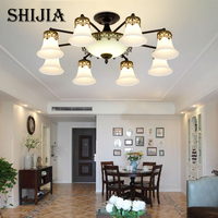 Glass Craft Modern LED Ceiling Light For Home Living Room Bedroom Ceiling Lamp Luminaire Lampara Techo