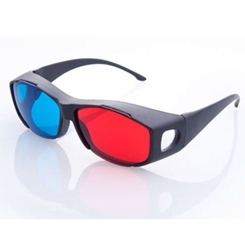 100Pcs <font><b>Fashion</b></font> Type Red Blue 3D <font><b>Glasses</b></font> Anaglyph Framed 3D Vision <font><b>Glasses</b></font> for Game <font><b>Stereo</b></font> <font><b>Movie</b></font> Dimensional Plastic <font><b>Glasses</b></font>