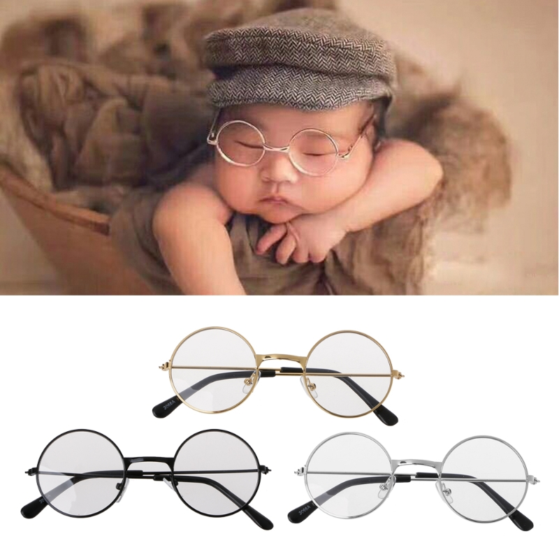 2018 new lovely newborn baby girl boy flat glasses photography props gentleman studio shoot in furniture toys from toys hobbies on aliexpress com