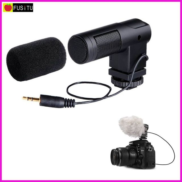 Microphone BOYA BY-V01 Stereo X / Y Mini Camera Condenser Microphone for Digital SLR Canon Nikon Pentax Sony