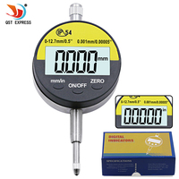 0.001mm IP54 Oil Proof Digital Micrometer 12.7mm/0.5 Electronic Micrometers Gauge Meter Dial Gauge With RS232 Data Out With Box