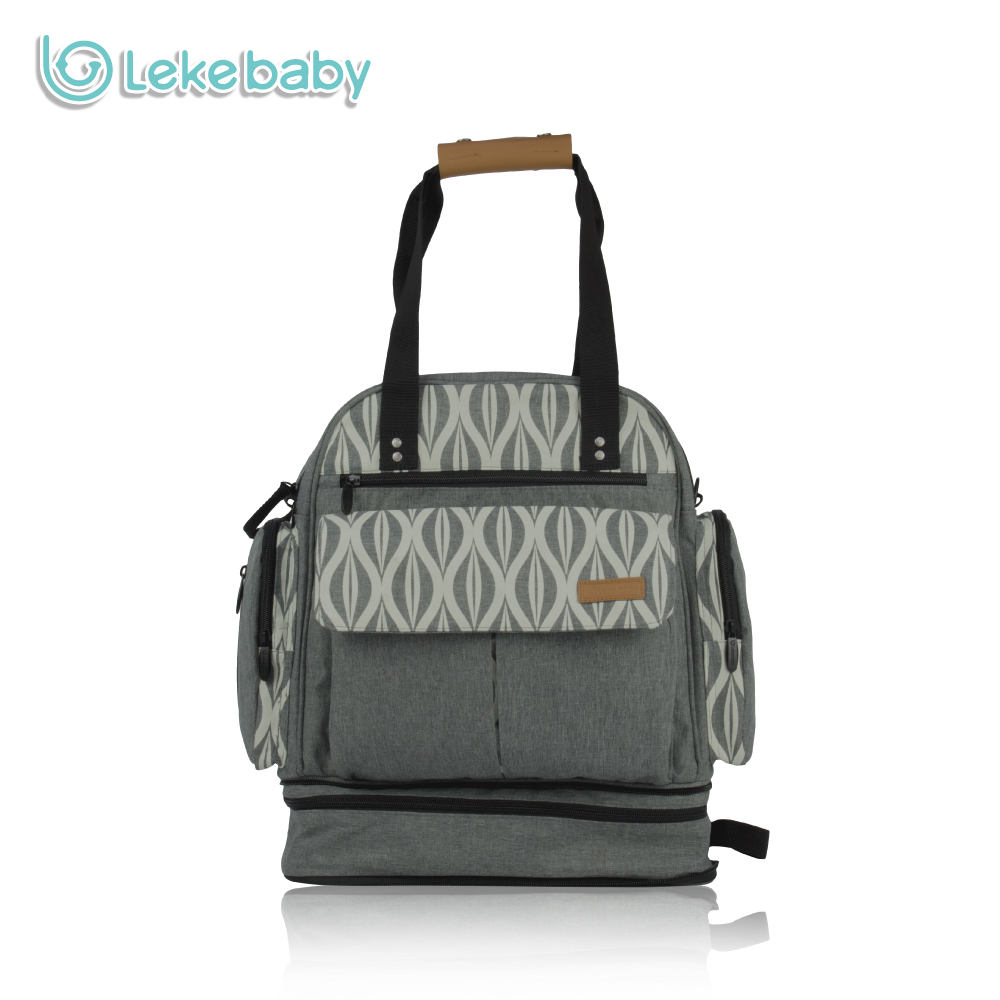 Lekebaby Official Store Lekebaby Convertible Diaper Bag Expandable Storage Capacity Mummy Maternity Nappy Changing Bag with Stroller Strap for Baby Care