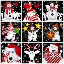 MomoArt DIY Diamond Painting Snowman Embroidery Full Square Rhinestone Mosaic Cartoon Home Decor