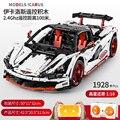 Serie Técnica McLaren P1 Hypercar 1:10 Racing LED APP Control coche conjunto bloques de construcción Compatible Legoing MOC-16915Toys
