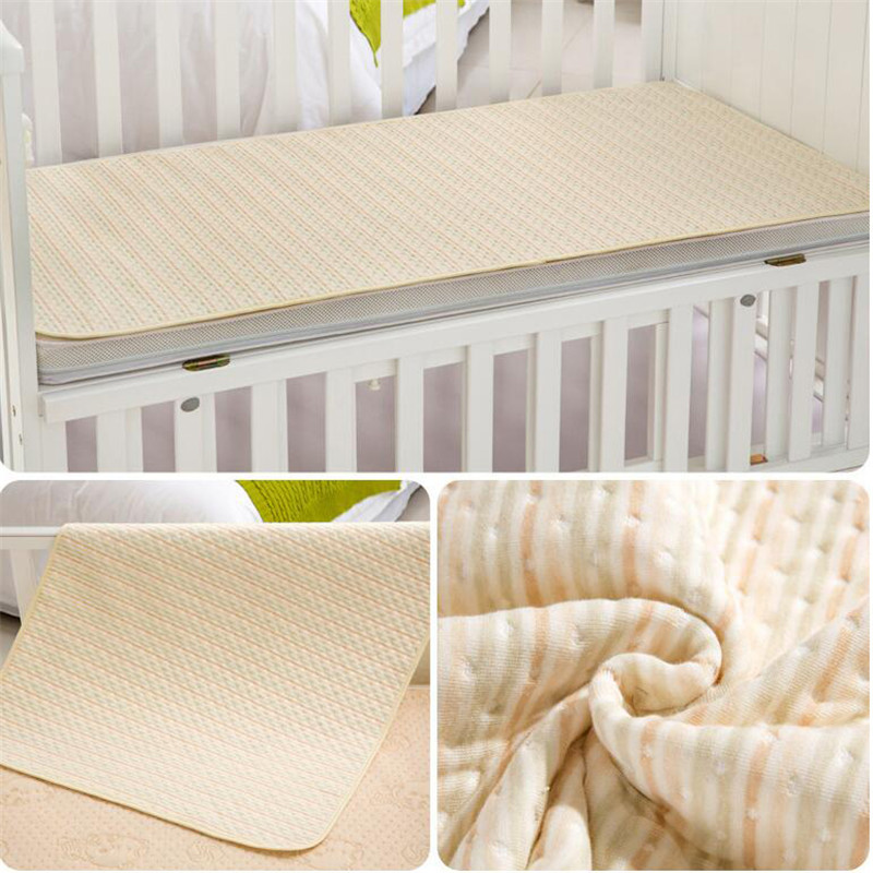 Organic colored cotton Waterproof EVA Layer Baby Changing Mat Cover Baby Waterproof Changing Urine Pad Bed