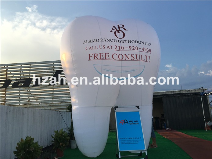 Giant Inflatable Tooth Balloon for Advertising giant inflatable balloon for decoration and advertisements