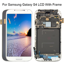 Free Shipping White/Black/Blue Replacement For Samsung S4 i337 i9505 i9500 i545 Touch Screen LCD Digitizer with frame Assembly цена