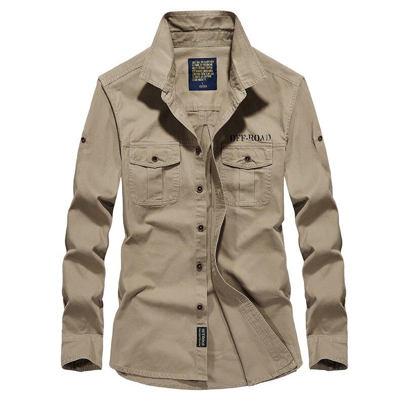 Рубашка air force one Мужские рубашки с длинным рукавом мужской slim fit Мужчины рубашка M-4XL мужские рубашки камиза masculina Хлопок