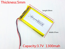 best battery brand 3.7V e Road route HD-X9 navigator battery 053759 503759 1300MAH GPS three lines