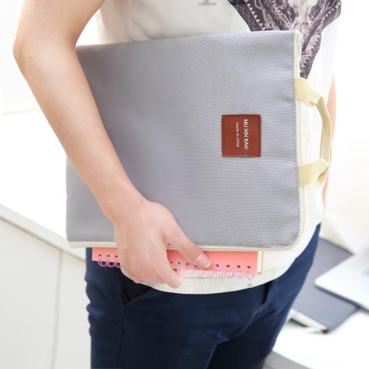 Молнии Multi Функция A4 файл мешок, Портативный IPad сумка для ноутбука, мобильный Оксфорд холст Портфели