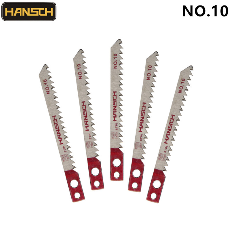 HANSCH 5pcs Jig Saw Blades 80*3 NO.10 Wood Fsat Cut HCS For Makita Cutting Tool